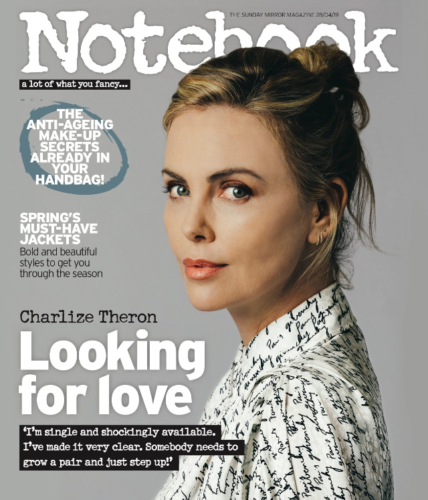 NOTEBOOK Magazine 28th April 2019: CHARLIZE THERON COVER AND INTERVIEW