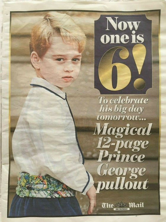 THE ROYAL FAMILY prince george Royal Baby PHOTO Mail On Sunday 12 pg Supplement