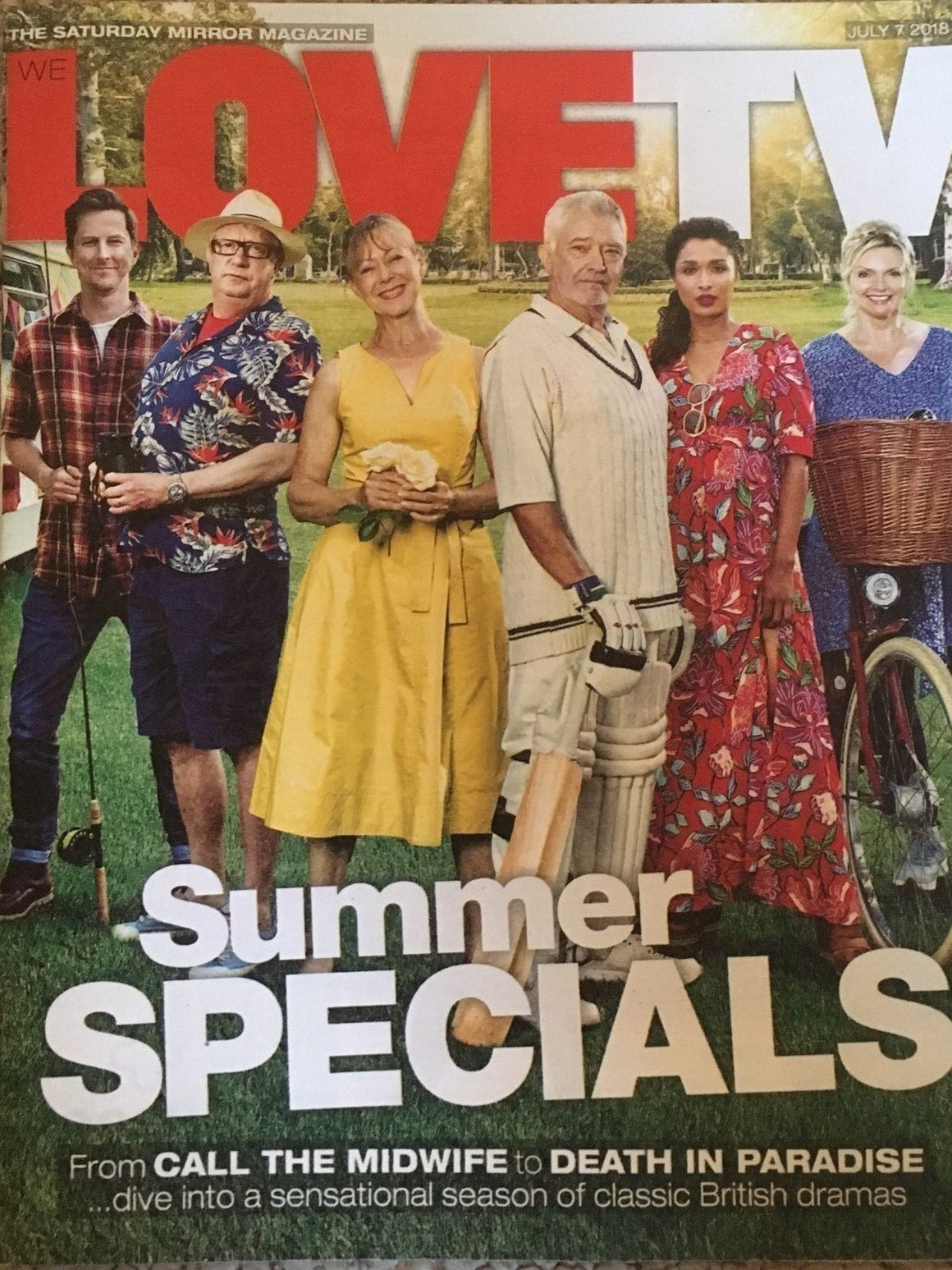 UK Love TV Magazine July 7 2018: Martin Shaw Sharon Small Lucy Pargeter Dormer