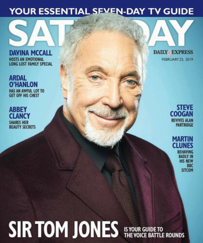 UK SATURDAY Magazine 02/2019: TOM JONES Martin Clunes NICKY CAMPBELL Bobby Crush