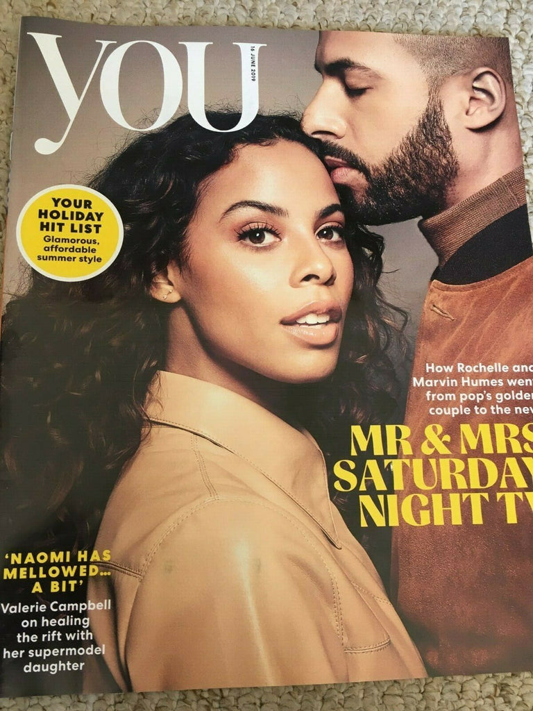 YOU magazine 16 June 2019 Rochelle & Marvin Humes Cover Interview Naomi Campbell