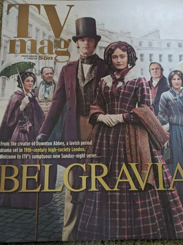 SUN TV Magazine March 2020: BELGRAVIA Philip Glenister JACK BARDOE Alice Eve