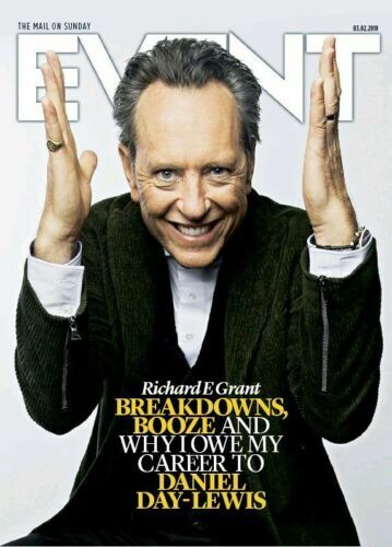 UK EVENT Magazine FEB 2019: RICHARD E GRANT Frank Sinatra A J LAMBERT