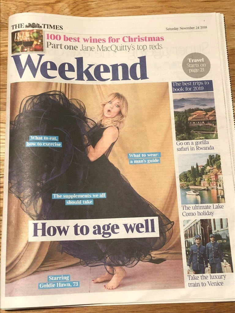 UK Times Weekend NOV 2018: Goldie Hawn Cover Exclusive Interview