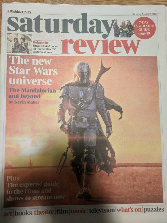 UK Times Review 21 March 2020: STAR WARS THE MANDALORIAN COVER FEATURE