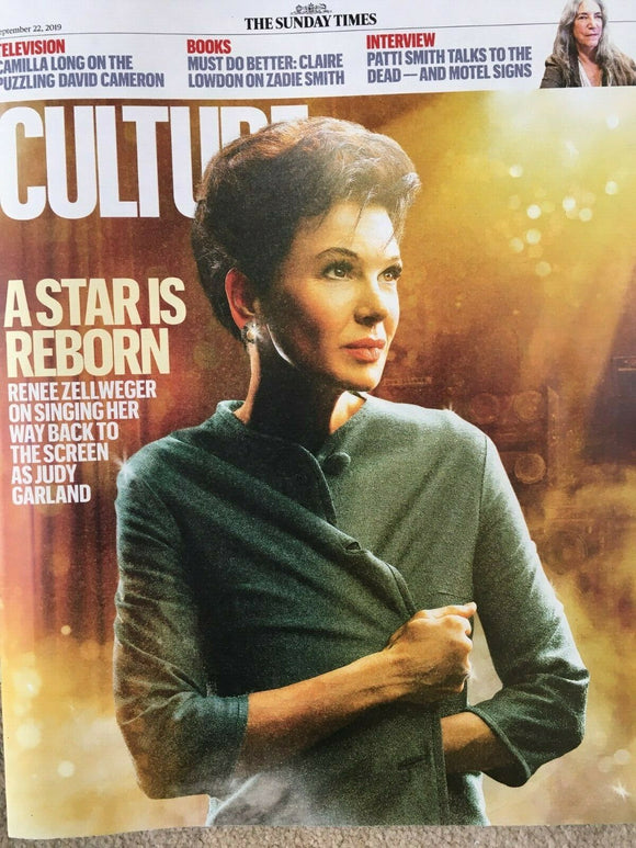 UK CULTURE Magazine September 2019: RENEE ZELLWEGER Judy Garland PATTI SMITH