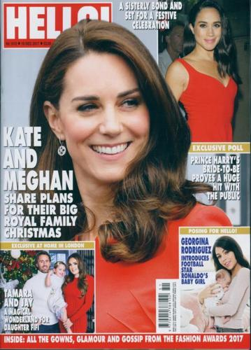 HELLO! magazine 18 December 2017 Kate Middleton Meghan Markle Daisy Ridley
