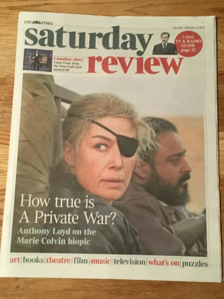 UK Times Review FEB 2019: ROSAMUND PIKE A Private War ROGER ALLAM Shaun Evans