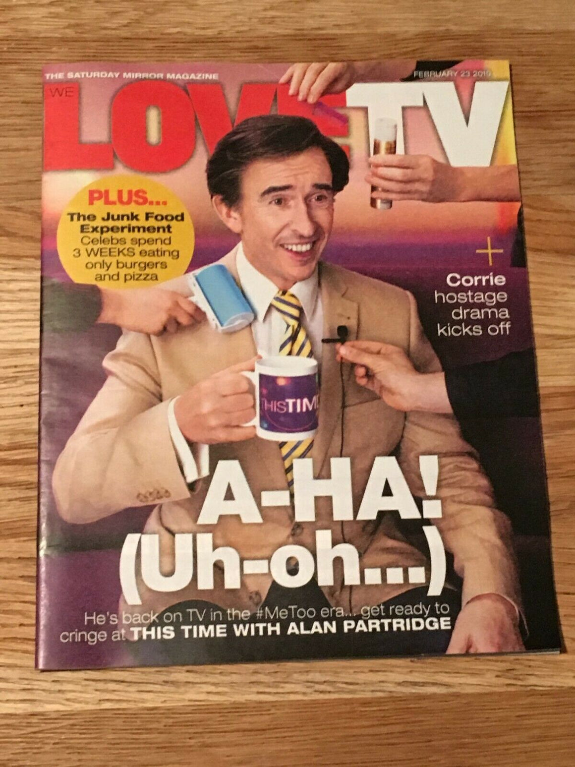 Love TV Mag FEB 2019: STEVE COOGAN Joseph Fiennes NICKY CAMPBELL Martin Clunes