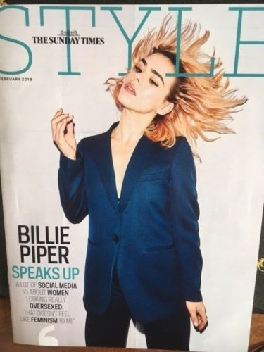 UK STYLE Magazine FEBRUARY 2018: Collateral BILLIE PIPER COVER & INTERVIEW