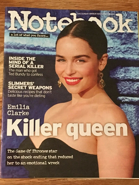 UK Notebook magazine April 2019: Emilia Clarke (Game Of Thrones) Cover Feature