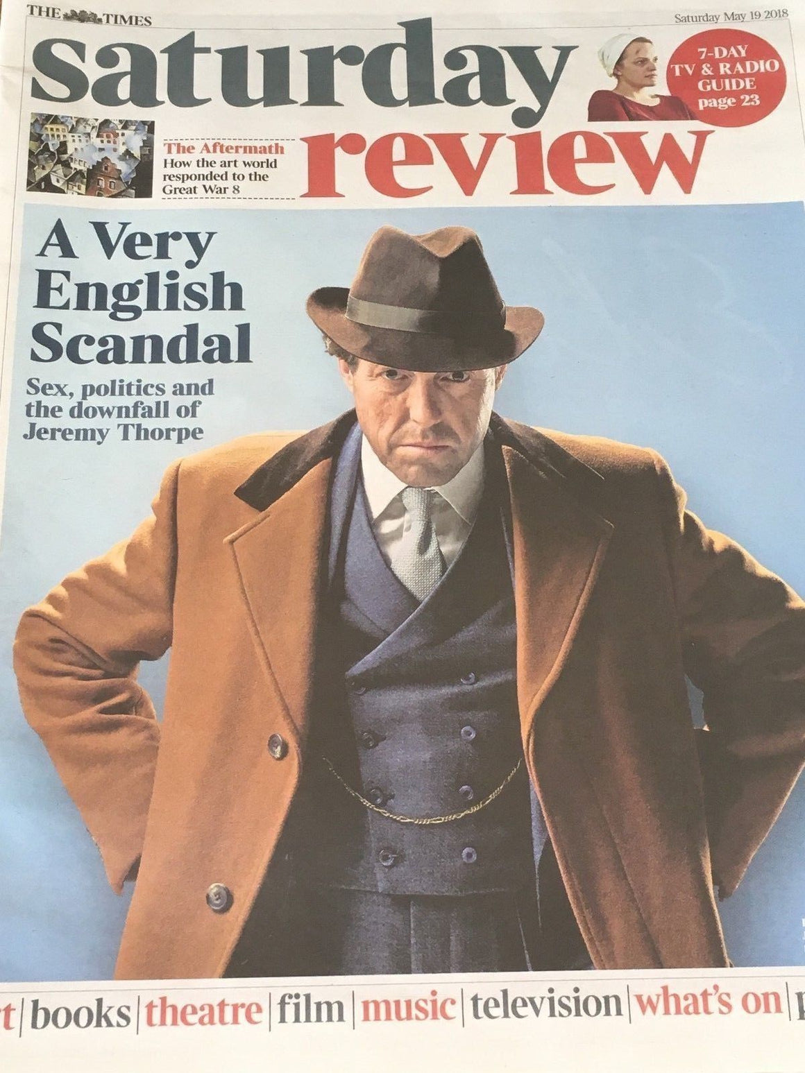 UK Times Review May 2018: HUGH GRANT A Very English Scandal BEN WHISHAW