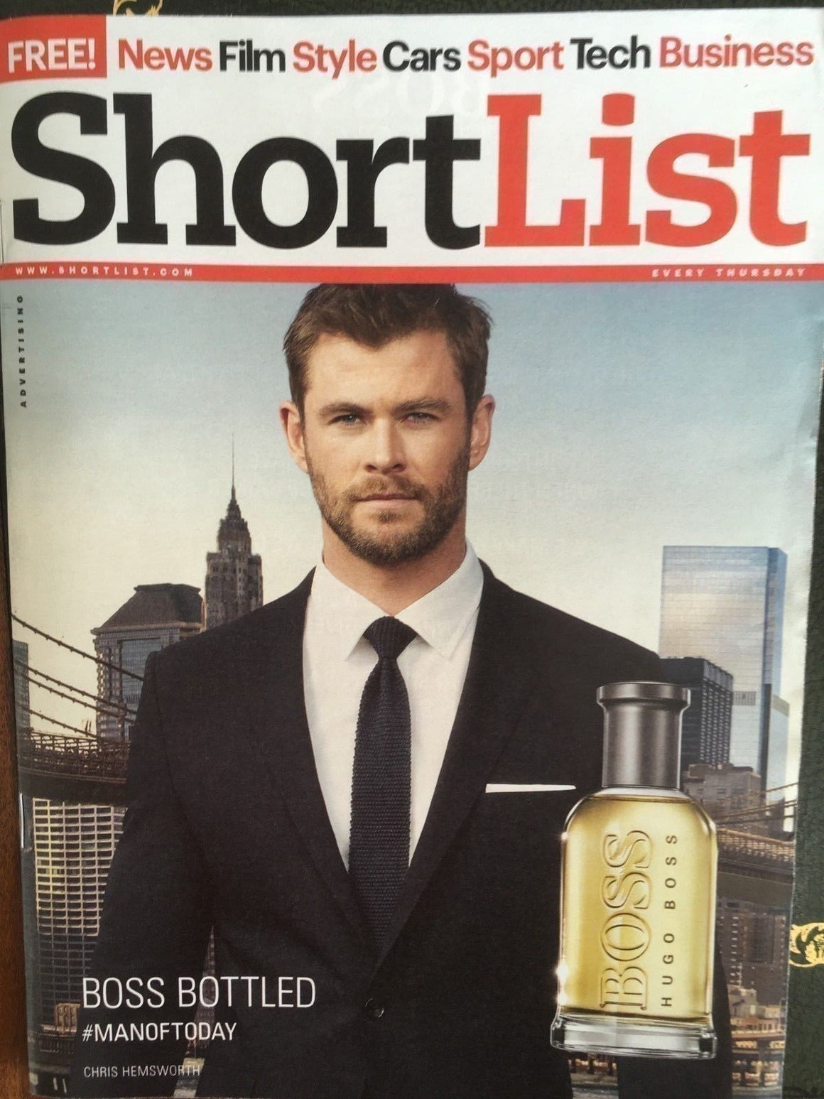 UK Shortlist Magazine DEC 2017: CHRIS HEMSWORTH James Franco Michael Haneke
