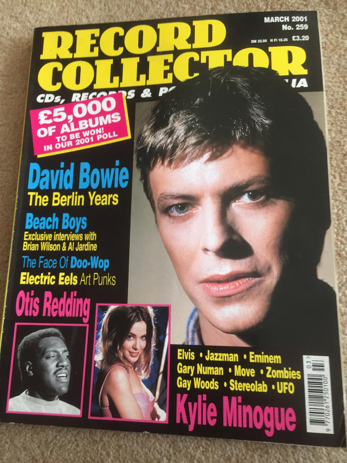 Record Collector Magazine March 2001, No. 259 David Bowie Otis Redding Kylie Minogue
