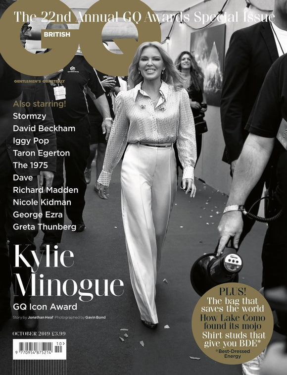 British GQ Magazine October 2019: KYLIE MINOGUE Limited Edition Cover