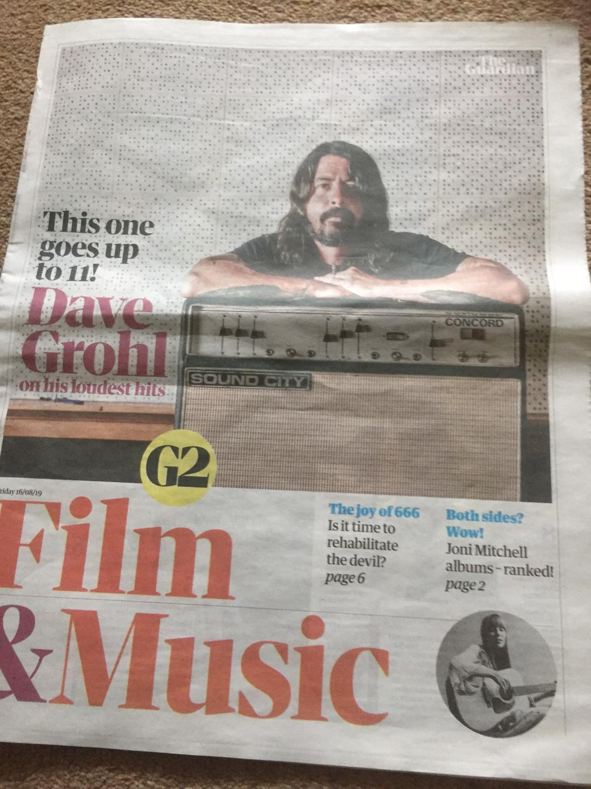 G2 Film & Music Supplement August 2019: Dave Grohl - Tom Burke Interview