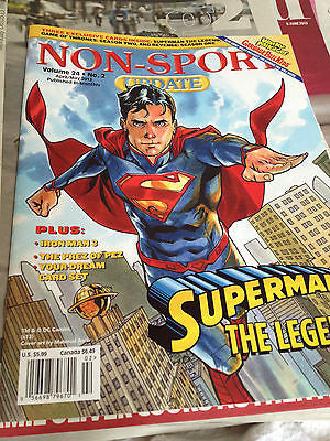 NON-SPORT UPDATE VOLUME 24 #2 APRIL/MAY 2013. SUPERMAN THE LEGEND IRON MAN 3