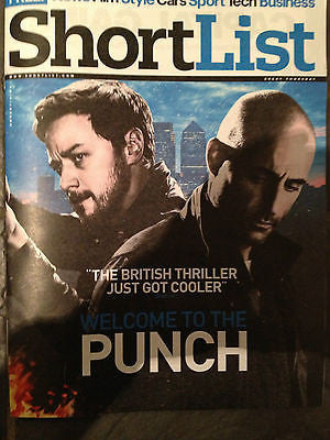 NEW SHORTLIST Magazine JAMES McAVOY PUNCH MARK STRONG NOEL GALLAGHER ROSS NOBLE