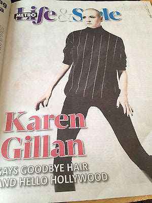 Doctor who KAREN GILLAN HOT PHOTO INTERVIEW METRO NEWSPAPER CLIPPINGS 2013
