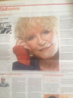 PETULA CLARK interview UK GUARDIAN FAMILY SEPT 2013