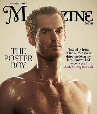 ANDY MURRAY WIMBLEDON WINNER PHOTO COVER INTERVIEW 2013 THE TIMES MAGAZINE