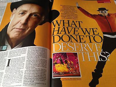 PET SHOP BOYS interview NEIL TENNANT STEPHEN KING UK 1 DAY ISSUE OWEN WILSON