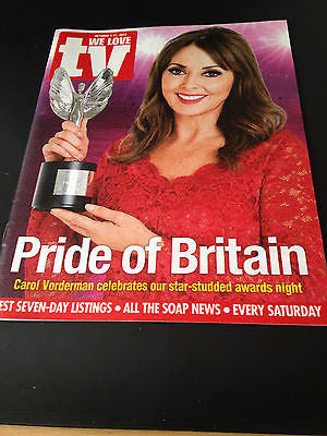 NEW WE LOVE TV MAG CAROL VORDERMAN GARY BARLOW DANIEL RADCLIFFE  KIRI TE KANAWA
