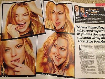 LINDSAY LOHAN interview UKmag 2013 JOHNNY MARR THE SMITHS ADAM ANT DERVLA KIRWAN