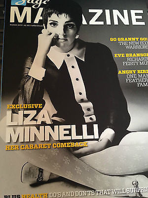 NEW Saga Magazine March 2013 Liza Minnelli MINELLI PHOTO INTERVIEW BEN WHISHAW
