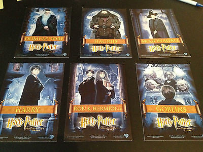 HARRY POTTER PHILOSOPHER'S STONE 6 rare UK PROMO CARDS maggie smith emma watson