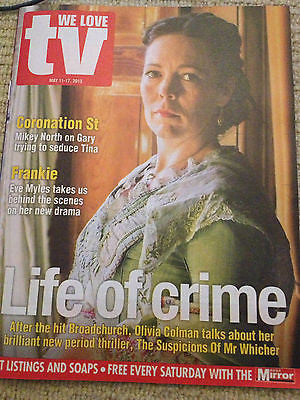 UK We Love TV Magazine Olivia Colman Russell Tovey Jamie Dornan Gillian Anderson