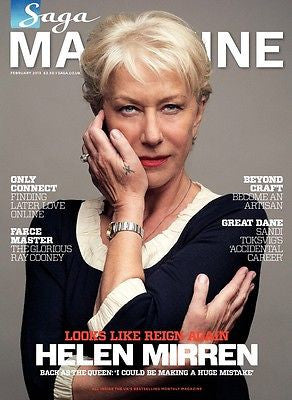 NEW Saga Magazine FEB 2013 HELEN MIRREN Richard Thompson Terence Stamp
