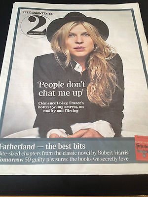 UK TIMES 2 OCTOBER 4 2013 CLEMENCE POESY BIRDSONG ACTRESS INTERVIEW