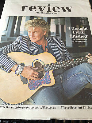 NEW Telegraph Review ROD STEWART Pierce Brosnan DAVID BARENBOIM The Staves