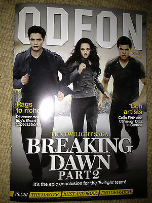NEW ODEON MAG ROBERT PATTINSON TAYLOR LAUTNER MICHAEL FASSBENDER ALAN RICKMAN