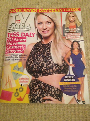 NEW TV EXTRA MAGAZINE TESS DALY KRISTEN BELL SAMANTHA WOMACK KELLY BROOK