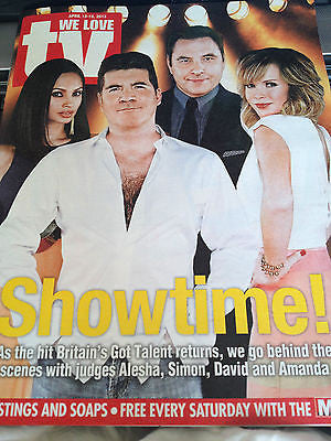 NEW We Love TV Magazine SIMON COWELL DAVID WALLIAMS ALESHA DIXON AMANDA HOLDEN