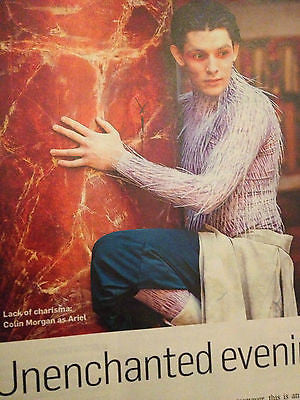NEW UK MAGAZINE MAY 2013 COLIN MORGAN MERLIN STAR IN THE TEMPEST