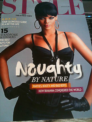 RIHANNA PHOTO COVER interview UK STYLE Magazine AUGUST 2012