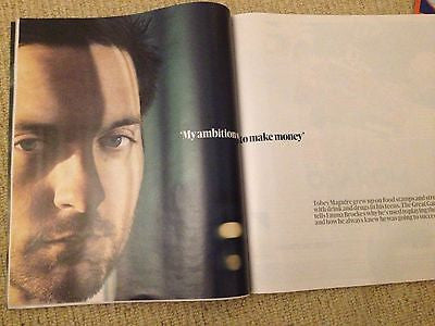 *** NEW UK !! TOBEY MAGUIRE inter/w THE GREAT GATSBY Olivia Colman CLEO ROCOS **