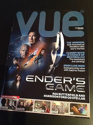 ENDER'S GAME 2 UK mag 2013 HARRISON FORD ASA BUTTERFIELD KIRK HAMMETT METALLICA