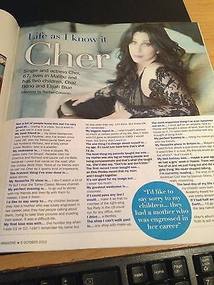 CLAIRE DANES interview JACK DAVENPORT UK 1 DAY ISSUE NEW CHER BRIGIT FORSYTH