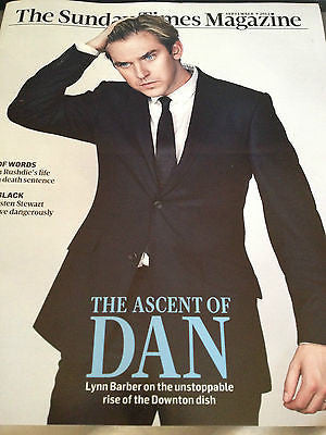 DAN STEVENS - DOWNTON ABBEY - NEW UK TIMES MAGAZINE - SEPT 2012 - NOEL GALLAGHER