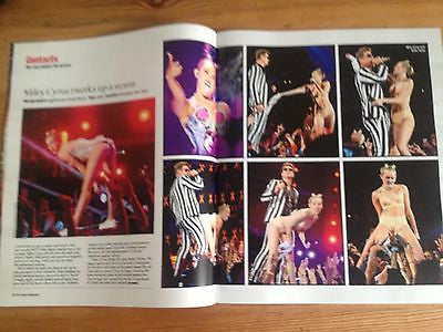 *** MILEY CYRUS uk mag 2013 JONATHAN YEO RICHARD DAWKINS SIR RANULPH FIENNES ***