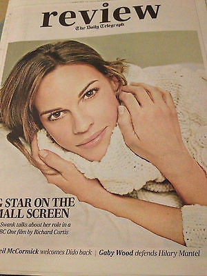 NEW Telegraph Review HILARY SWANK RUDIMENTAL DIDO ATOMS FOR PEACE