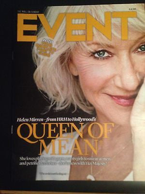 Event Magazine - Helen Mirren cover 4 August 2013 Freddie Mercury Toby Stephens