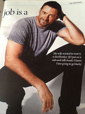 HUGH JACKMAN interview WOLVERINE HUNK UK 1 DAY ISSUE HUNGER GAMES MARTIN CLUNES