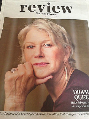 TELEGRAPH REVIEW FEB 2013 HELEN MIRREN DENNIS QUAID SOWETO KINCH TEGAN AND SARA