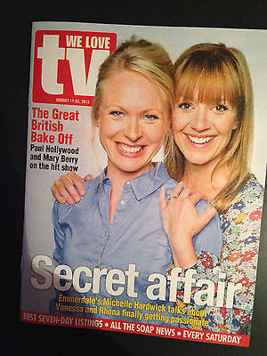 NEW We Love TV Magazine MICHELLE HARDWICK Emmerdale Tom Hardy Mary Berry