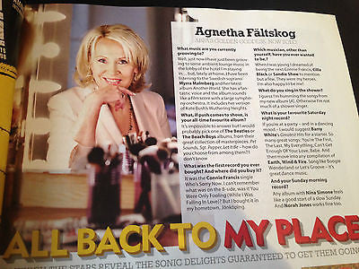 UK MOJO MAGAZINE 2013 AGNETHA FALTSKOG ABBA INTERVIEW